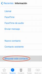Bloquear llamadas en iPhone (2)