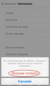 Bloquear llamadas en iPhone (3)