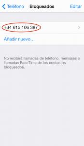 Bloquear llamadas en iPhone (5)
